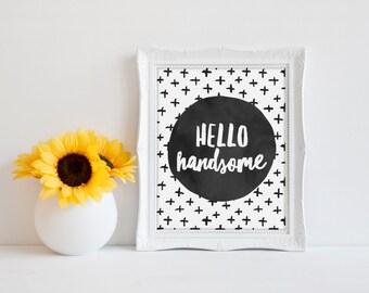 Nursery Print, Modern Nursery Print, Black and White Print, Modern Home Print, Love Print, Cute Quote Print, Typography Print, Minimal Print