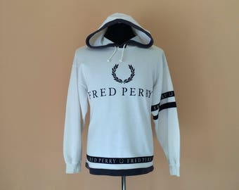 Rare Fred Perry Sweater Hoodie Big Striped Full Zip Up Nice Design II1fSmdm