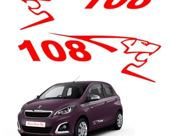 Set of 2 stickers Peugeot 108 stickers