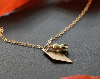 juliet - gold and bronze pendant necklace by elephantine