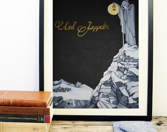 Led Zeppelin Art Etsy