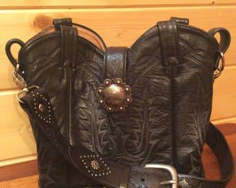 Rebooted Tony Lama Cowboy Boot Top Purse