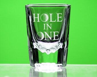 Hole in One shot glass - Golf Gift for Men or Women - Golf Gift for Dad - celebration - Groomsmen Gift - girls who golf - custom golf gift