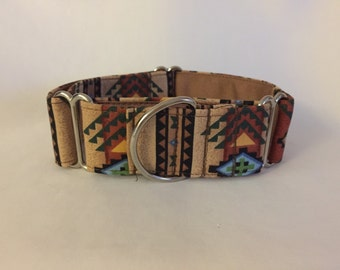 "1.5"" Tan Southwest Martingale Collar"