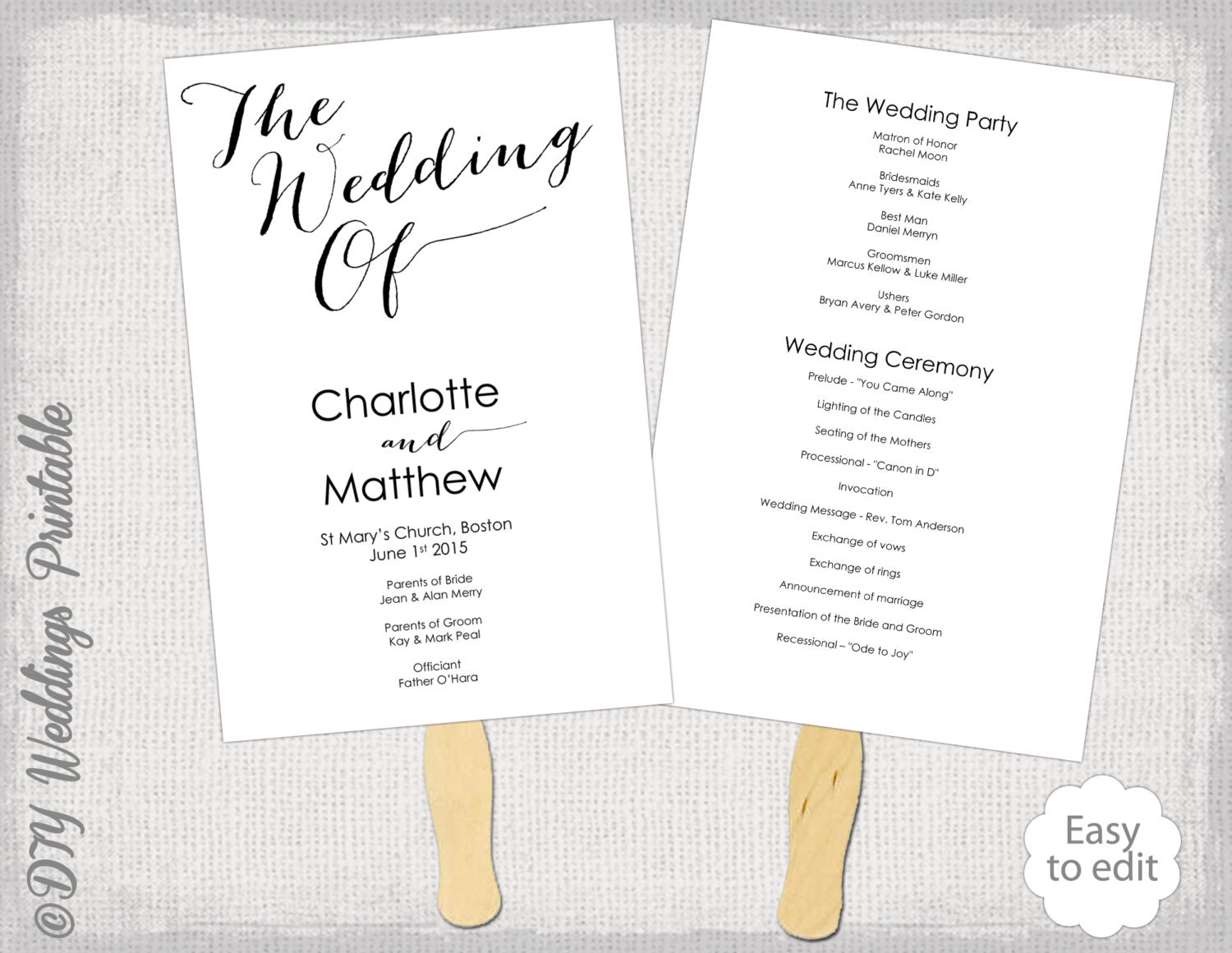 Wedding Program Ceremony Template Aprilonthemarchco - Easy wedding program template