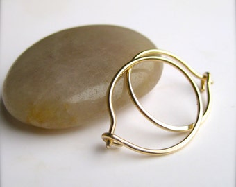 Small Gold Hoop Earrings, Small Pink Gold Hoops Available, Gold Hoop Earings