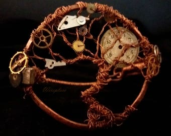 Steampunk tree of life bracelet