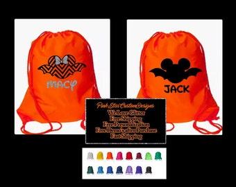 Disney Halloween Bag, Disney Halloween Shirts, Disney Famly Halloween Shirts, Disney Trick or Treat Bag, Disney Bag, Personalized Disney Bag