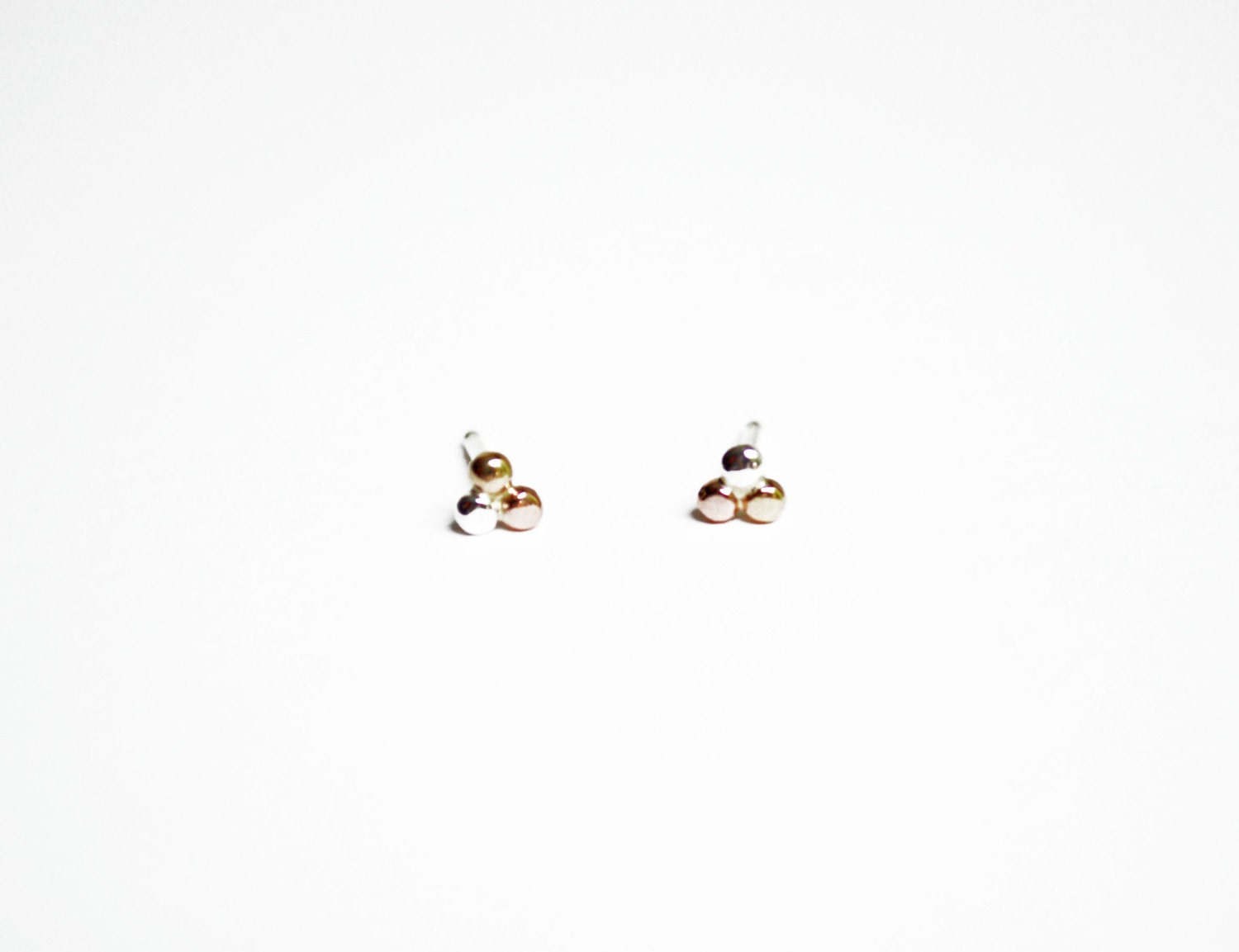 stud pin solid earrings tiny etruscan studs gold