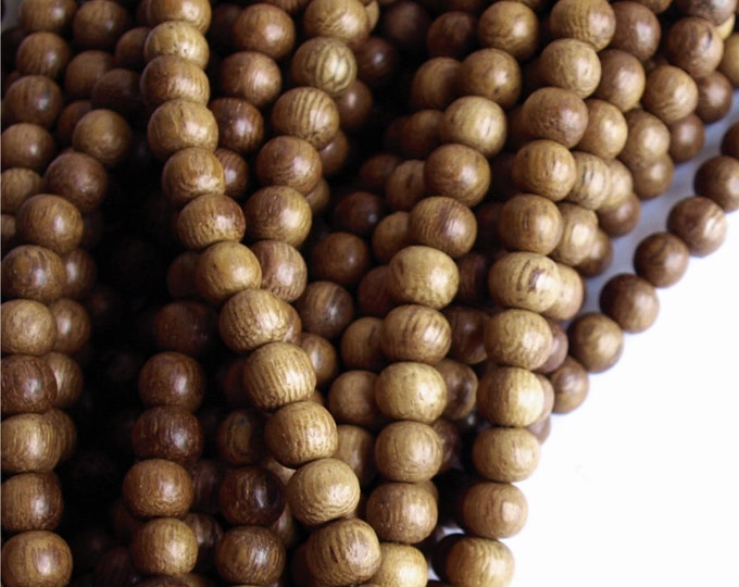 Wood Bead, Round 6mm, Robles - Ten 16 Inch Strands (WDRD-06RB)