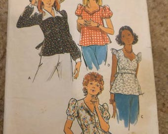 VINTAG misses skirt and blouse Patterns, Vintage blouse pattern, Vintage skirt Pattern, Simplicity 9332,  simplicity 8063, simplicity 3607