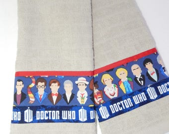 Doctor Who Hand Towels/Kitchen Towel Set