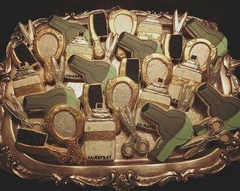 Beauty Salon - Decorated Sugar Cookies - 1 Dozen