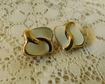 Enamel Earrings, Enamel Clip Ons, Enamel Jewelry. Costume Earrings, Costume Jewelry, 1980's Clip Ons, 1980's Jewelry