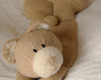 Bear Pyjama Case Knitting Pattern, Nightwear Case Knitting Pattern