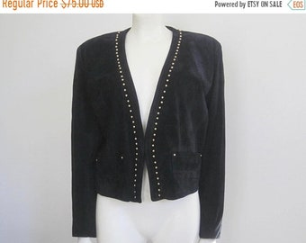 80s Suede Jacket / Stud Jacket / New Old Stock / Rocker Clothing / Black Suede Jacket / Fall Fashion / On Trend / Festival Clothing