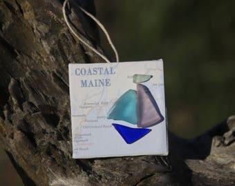 Maine Coast Sea Glass Ornament