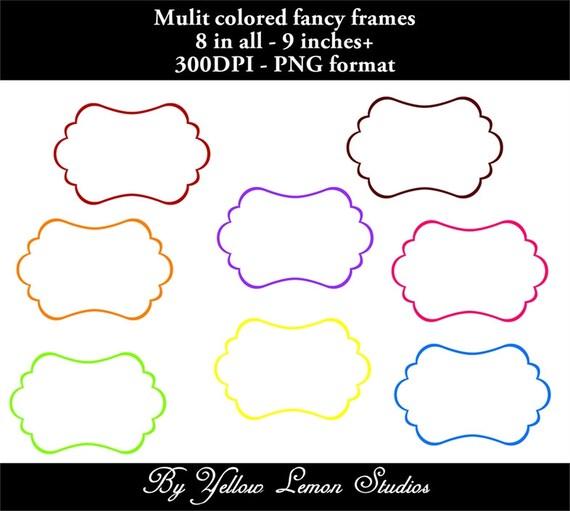 fancy frames digital frames png files quotrainbow frames