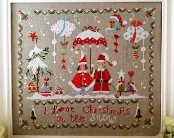 INSTANT DOWNLOAD Christmas in the Snow counted cross stitch patterns by Cuore e Batticuore at thecottageneedle.com PDF e-pattern Christmas