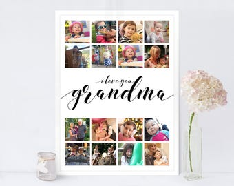 Photo Collage Print Classic / Mother's Day Gift / Instagram Collage Print / Nanny Mother's Day