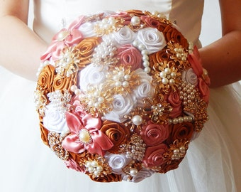 Wedding ceremony, Broach bouquet , Bridal bouquet , brooch bride bouquet , silk wedding bouquet , wedding flowers , heirloom bouquet