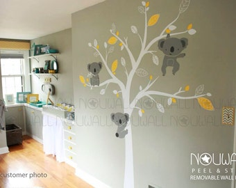 Baby Wall Decal - Animal Koala Bear Tree Wall Sticker Wallpaper- Wall Decals & Murals