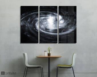 Galaxy Forces Nebula Metal Wall Art Print Ready to Hang