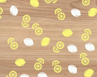 200  White & Yellow - Lemon Confetti - Cut outs - die cuts