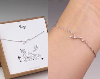 constellation bracelet, horoscope bracelet, virgo jewelry, Virgo bracelet, best friend gift, horoscope jewelry, sister birthday gift, gold