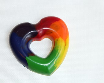 Rainbow Heart Crayon - A Rainbow of a Crayon - A Montessori and Waldorf Inspired Color Learning Toy