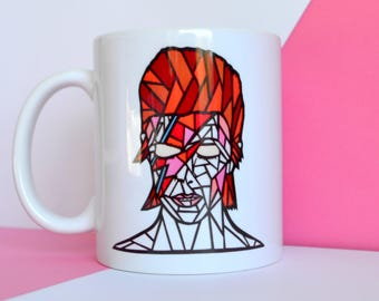Bowie mug , bowie gift , bowie lovers gift , david bowie mug , aladdin sane gift , aladdin sane mug , david bowie lover , david bowie fan