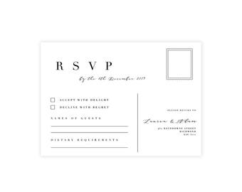 Complete Your Suite   RSVP Card   Wedding Event Invitation Suite   Printable Digital File Printed Invite Invitations Stationery