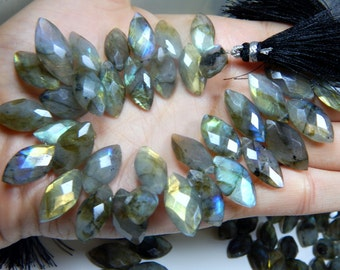 70%OFF Labradorite Gemstone Faceted Marquise Beads Size 12x14 to 21x26 mm Approx  - 0458