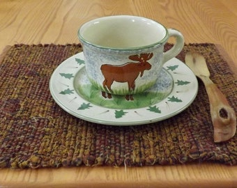 Handwoven Rag Placemats, Priced Individually, PL09