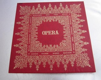 1970s VERDI OPERA Box Set 6 x Vinyl 33 1/3 Records Three OPERAS La Traviata Il Trovatore Rigoletto