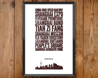 Shanghai City Print