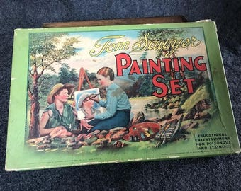 Vintage 1931 Tom Sawyer painting set