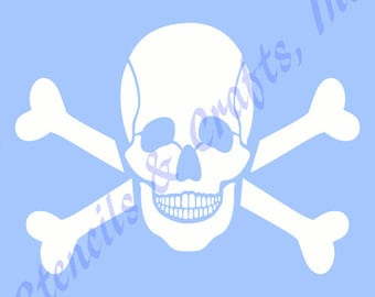 SKULL CROSS BONES stencil bone skeleton teeth tooth stencils template background templates new