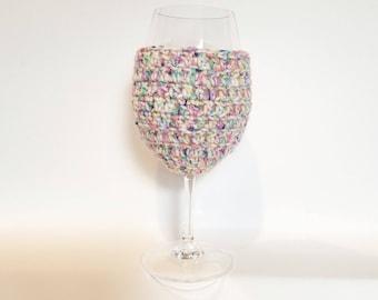 Wine Glass Cozy - Confetti - Ready to Ship