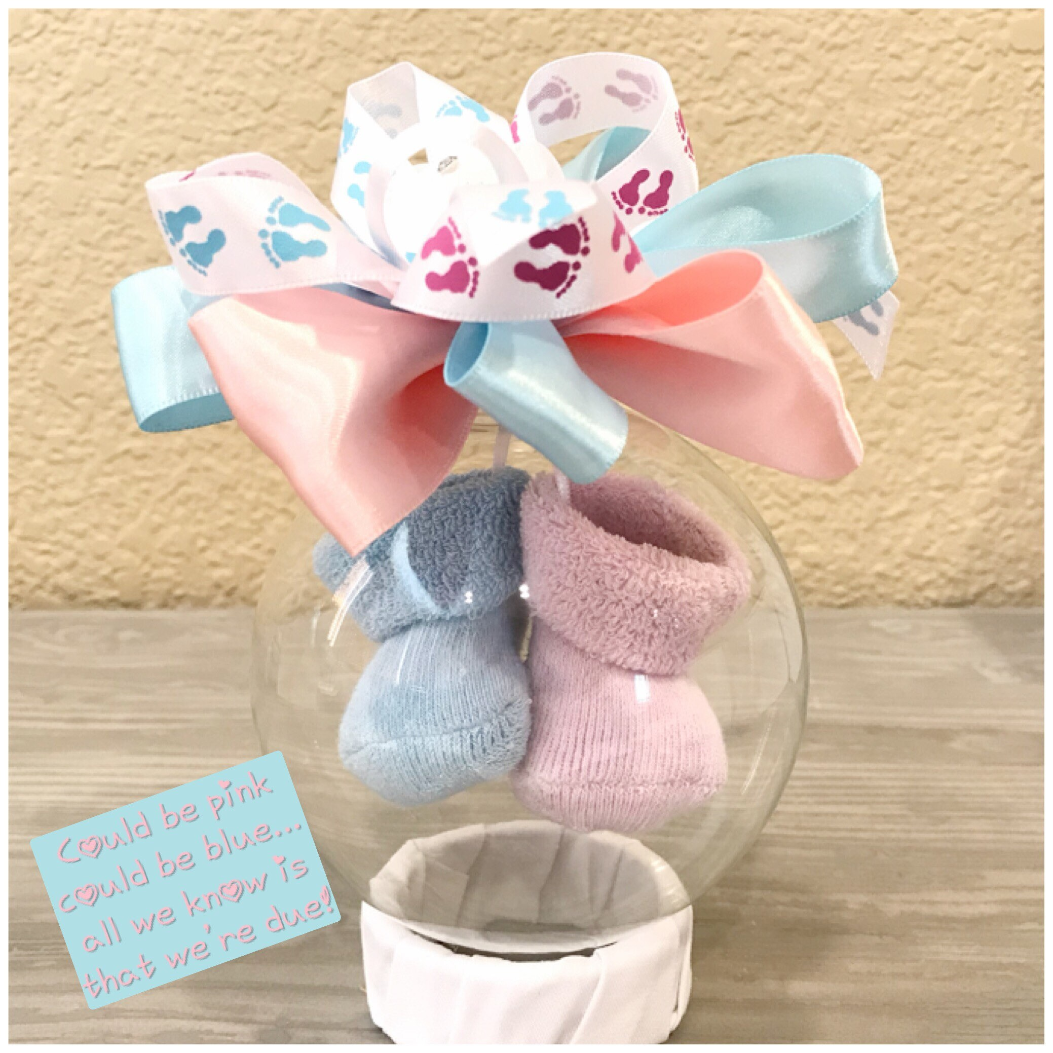 We re Pregnant Announcement for Family and Friends Ornament with