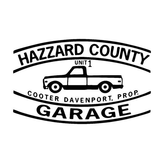 Dukes Of Hazzard Decal Sticker Hazzard County
