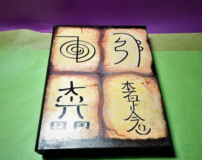 Reiki Box,decoupage box,healing box,crystal box,meditation box,therapy box