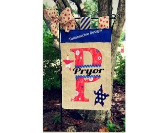 Patriotic Garden Flag - 4th of July Garden Flag - Patriotic Flag - Personalized Flag- Red White And Blue Garden Flag -Memorial Day Flag
