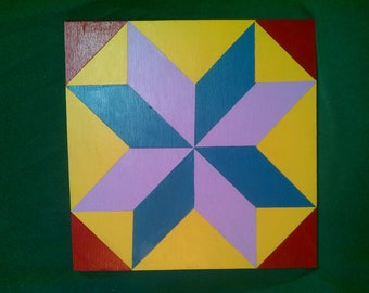 Hand Painted Barn Quilt  0001
