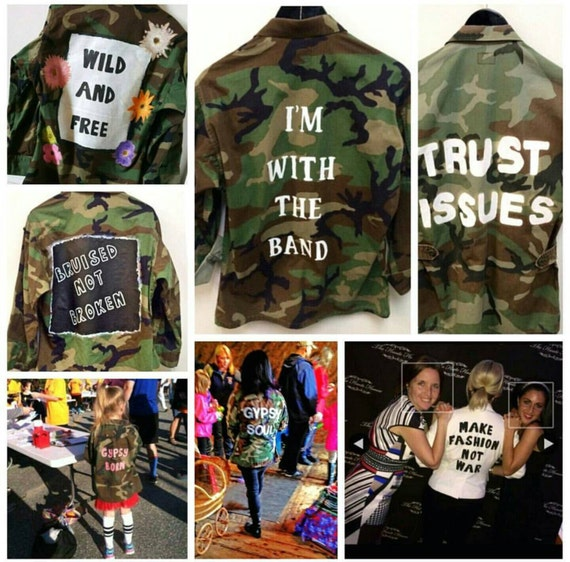 Custom Your Name Pablo Vintage Camo Camouflage Military Jacket - custom jacket - bdu jacket - army jacket - camo 5YQZL5qi