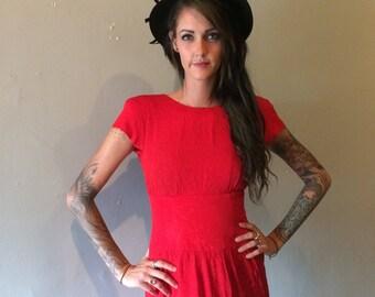 Vintage Kathryn Conover Red 80s dress