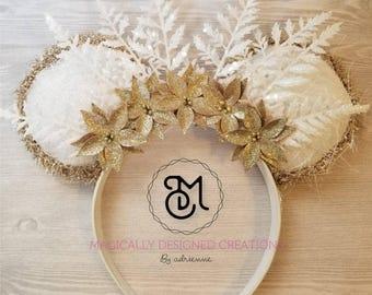 Golden Winter Wonderland Custom Ears