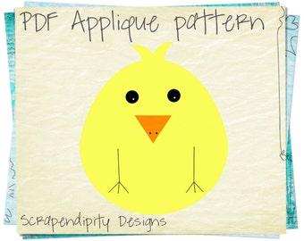 Chicken Applique Pattern -  Farm Applique Template / Boys Farm Applique Quilt / Chicken Quilt Pattern / Kids Nursery Blanket Digital AP260-D