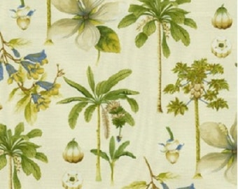 Catesby Palms color Lemongrass Willamsburg Printed Decorative Fabric