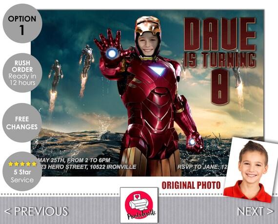 Iron Man Invitation - Iron Man Invite - Iron Man - Avengers Invitation - Avengers Invite - Tony Stark - Avengers - Iron Man Birthday
